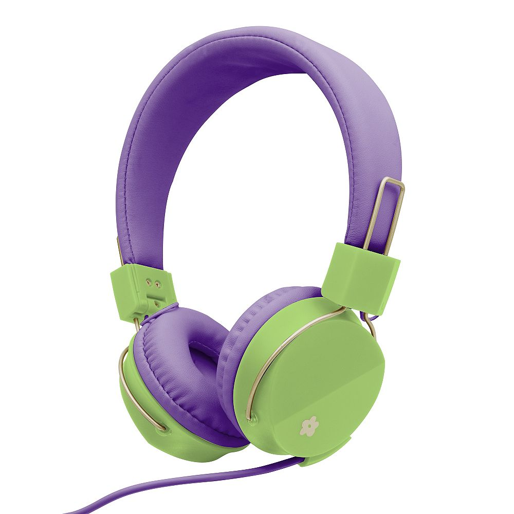 Limited Too Casque d'écoute pliable éclatant de couleurs avec micro Too pour filles, Violet
