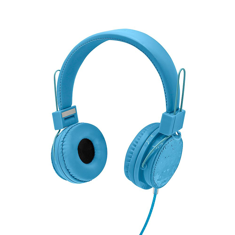Limited Too Shining Sequin Wired Headphones , Blue