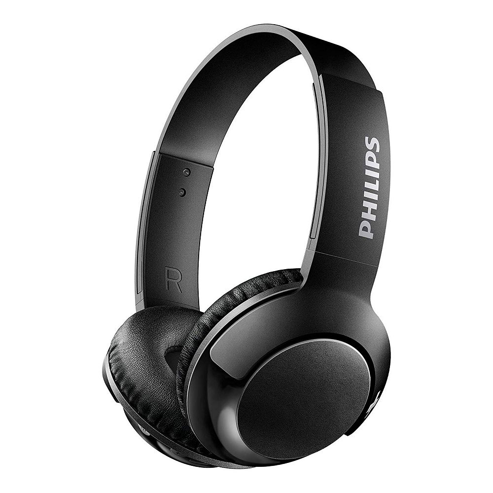 Philips Wired On-Ear BASS+ Headphones, Black