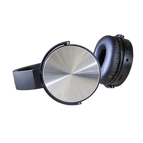 Casque d'écoute sans fil supra-auriculaire, Noir