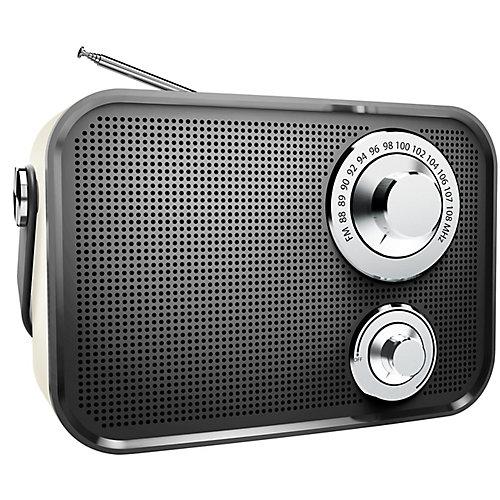Haut-parleur Bluetooth sans fil radio FM de type rétro de - Noir