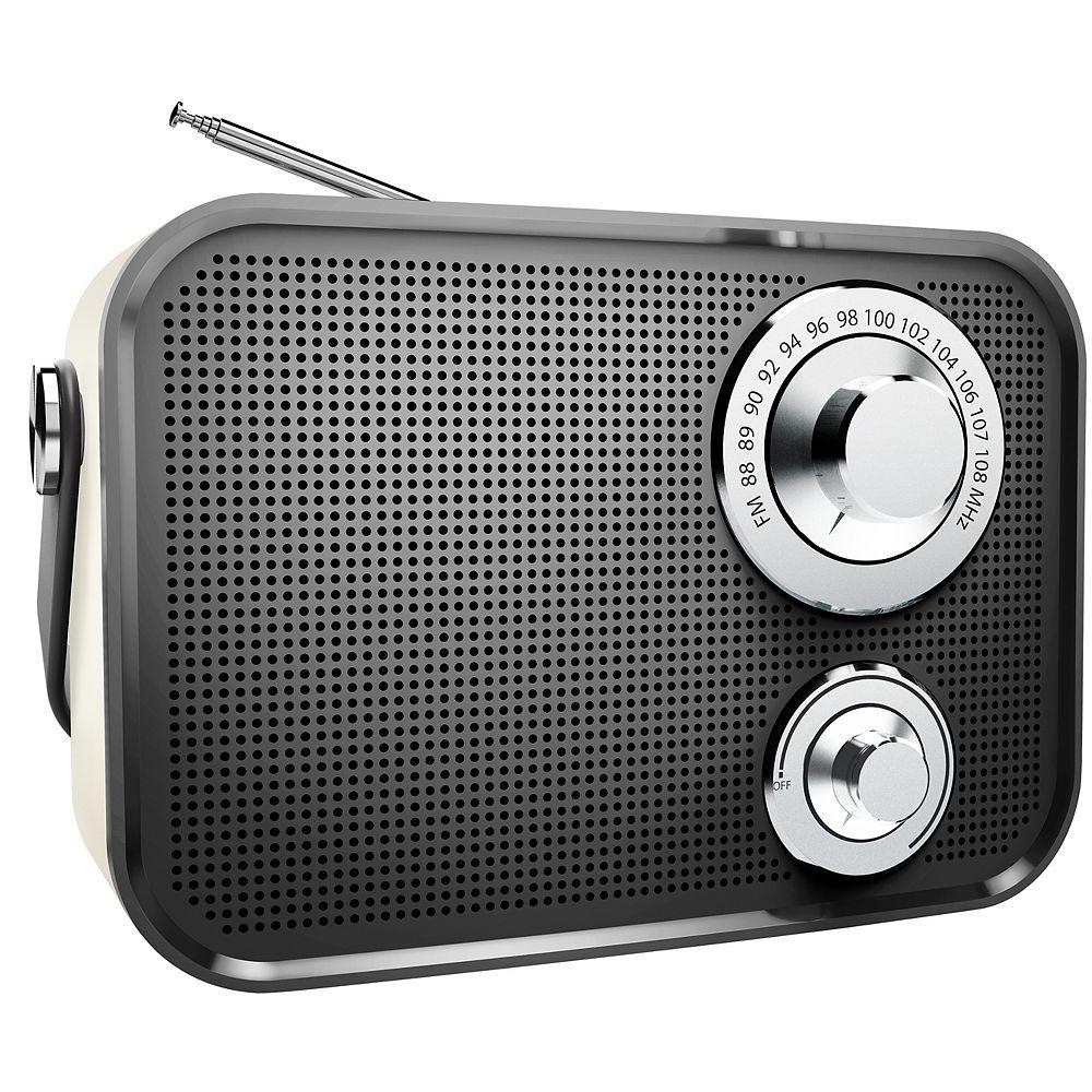 Polaroid Retro Wireless FM Radio And Bluetooth Speaker - Black