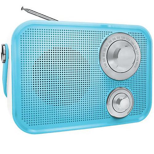 Haut-parleur Bluetooth sans fil radio FM de type rétro de - Bleu