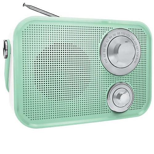 Haut-parleur Bluetooth sans fil radio FM de type rétro de - Vert
