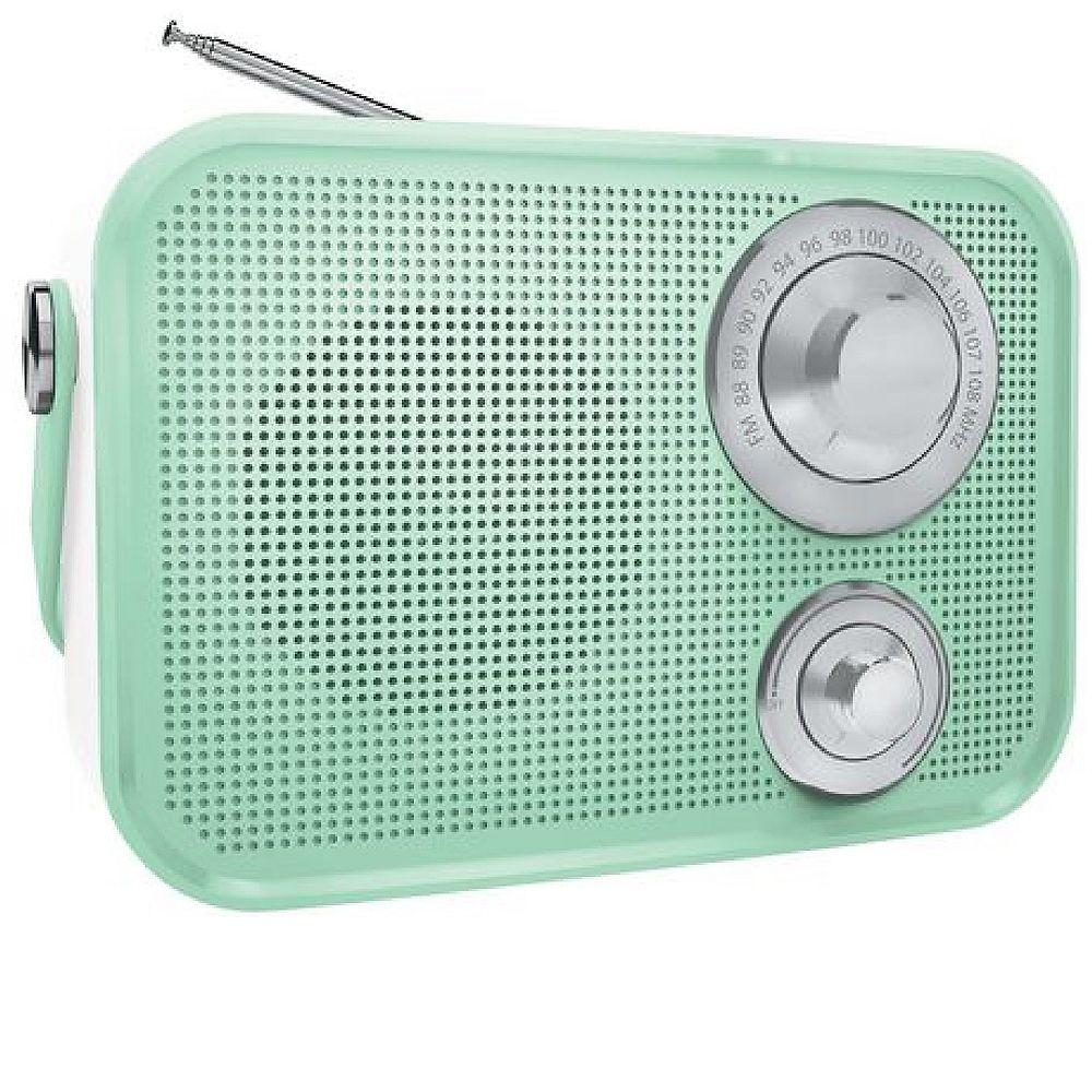 Polaroid Retro Wireless FM Radio And Bluetooth Speaker - Green