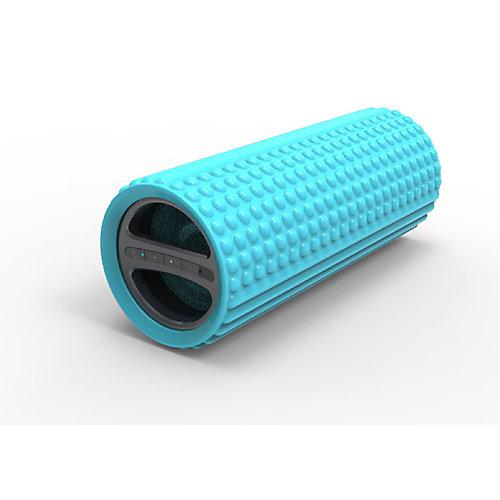 Rouleau en mousse pour exercice Image avec haut-parleur Bluetooth intégré, bleu