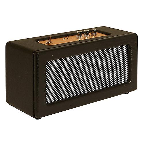 Haut-parleur rétro sans fil SBT3002 Bluetooth de Image, noir