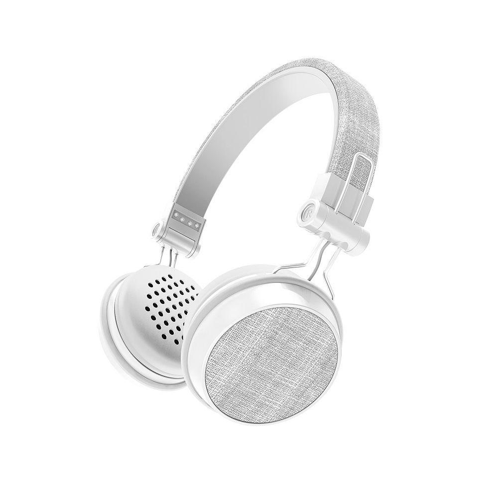 Sharper Image Image Bluetooth Wireless Fabric Headphones, Grey