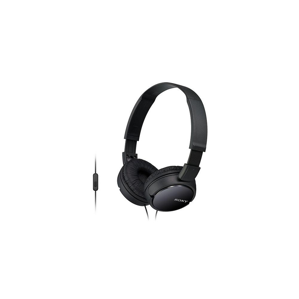 Sony Casque d'écoute MDRZX110AP avec micro et contrôle intégrés, noir