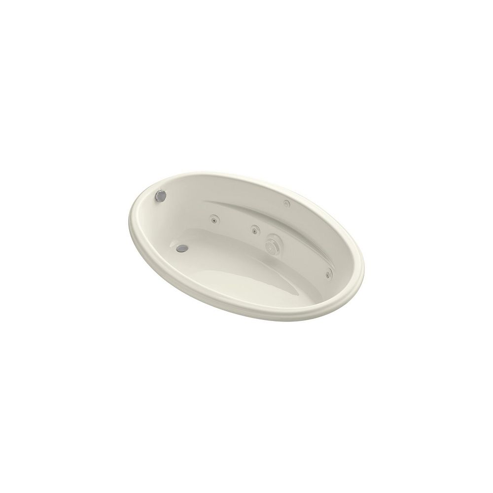 KOHLER 60 inch x 40 inch drop-in whirlpool in Biscuit