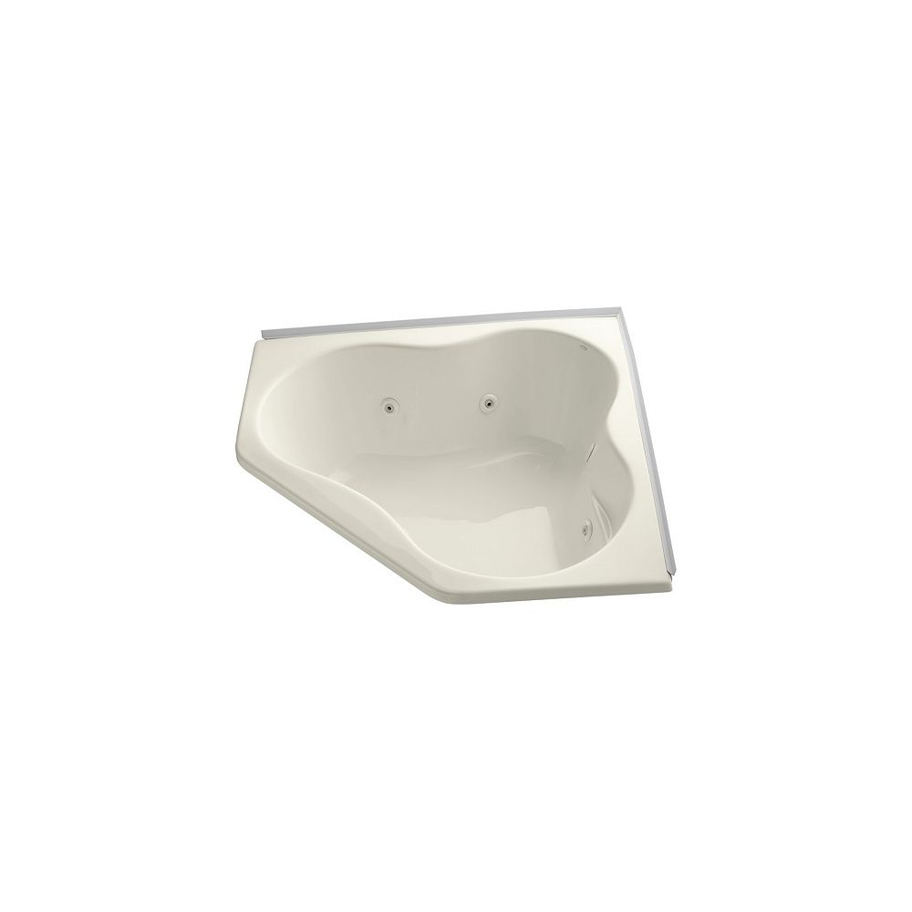 KOHLER 54 inch x 54 inch alcove whirlpool with integral flange in Biscuit