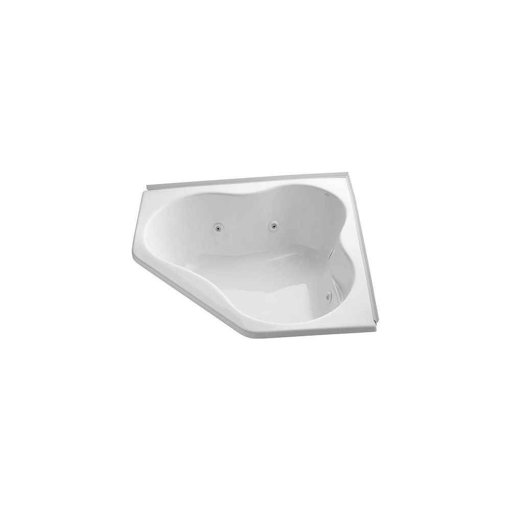 KOHLER 54 inch x 54 inch alcove whirlpool with integral flange and heater in White