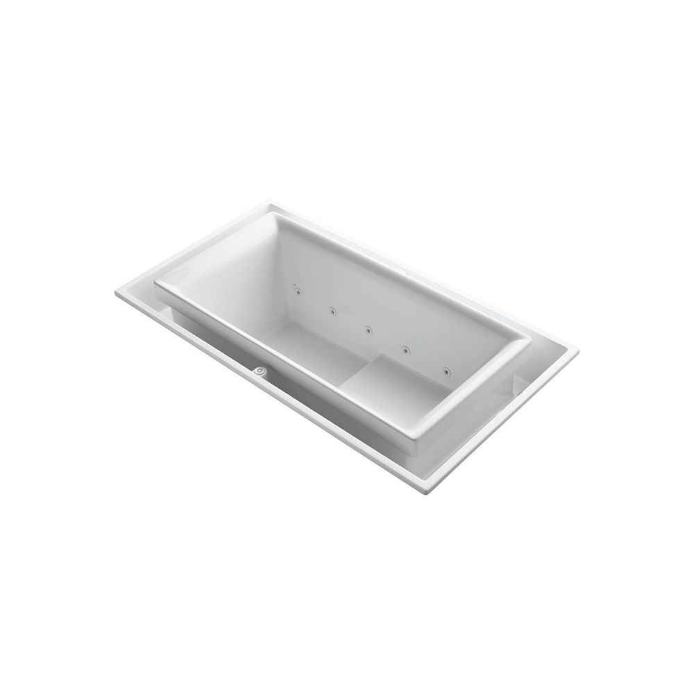 KOHLER 75 inch x 41 inch drop-in Effervescence bath with left-hand drain in White