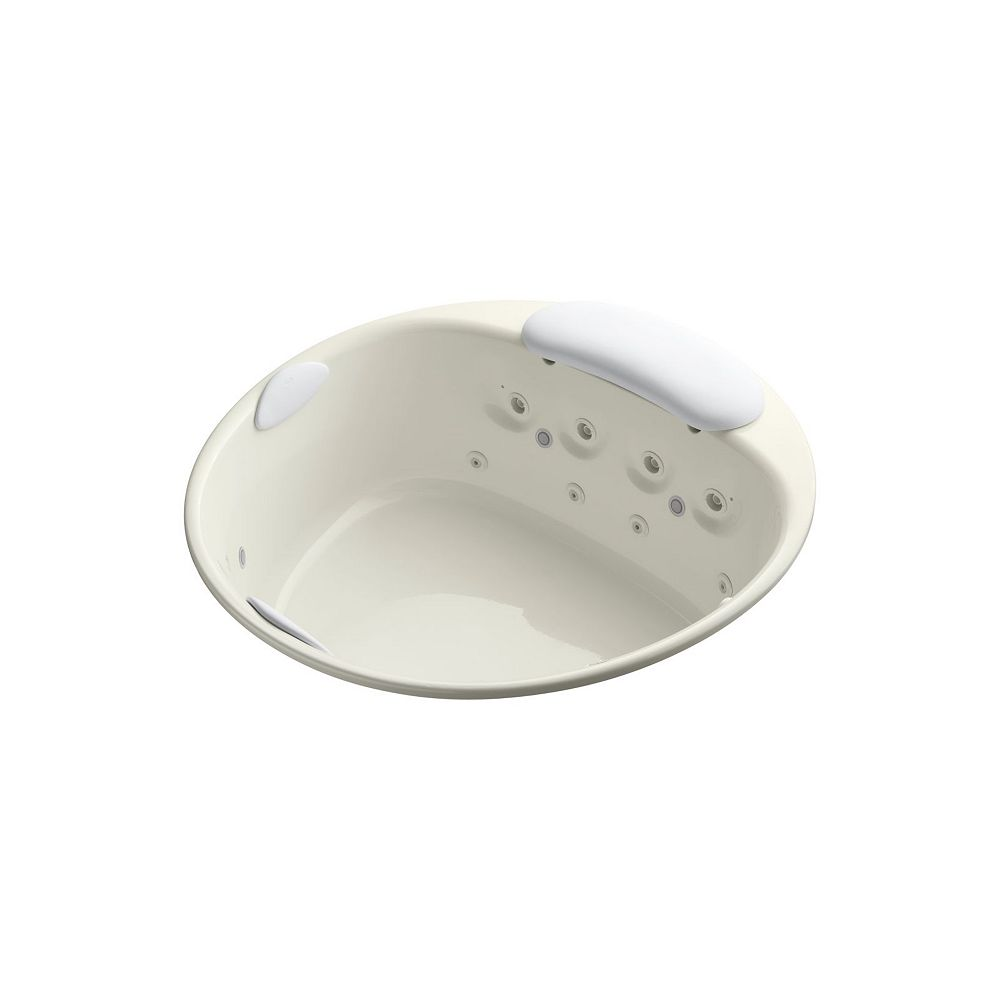 KOHLER Riverbath 66 inch drop-in whirlpool with chromatherapy and heater without jet trim