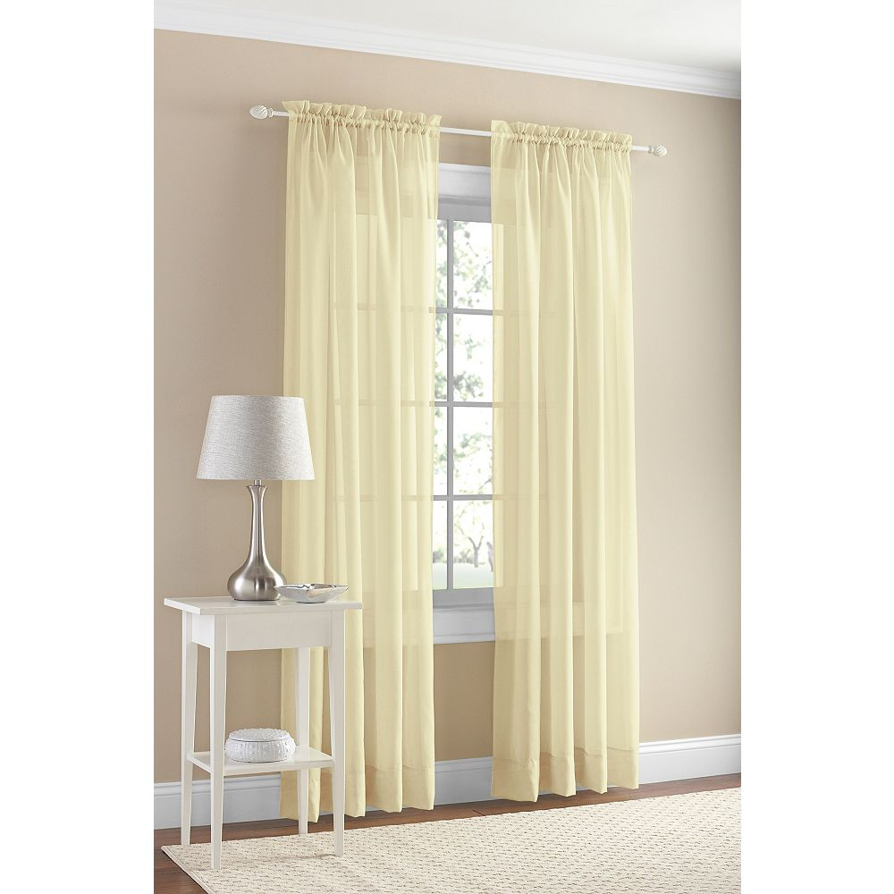 918 Voile Rod Pocket 59 X 95 Yellow