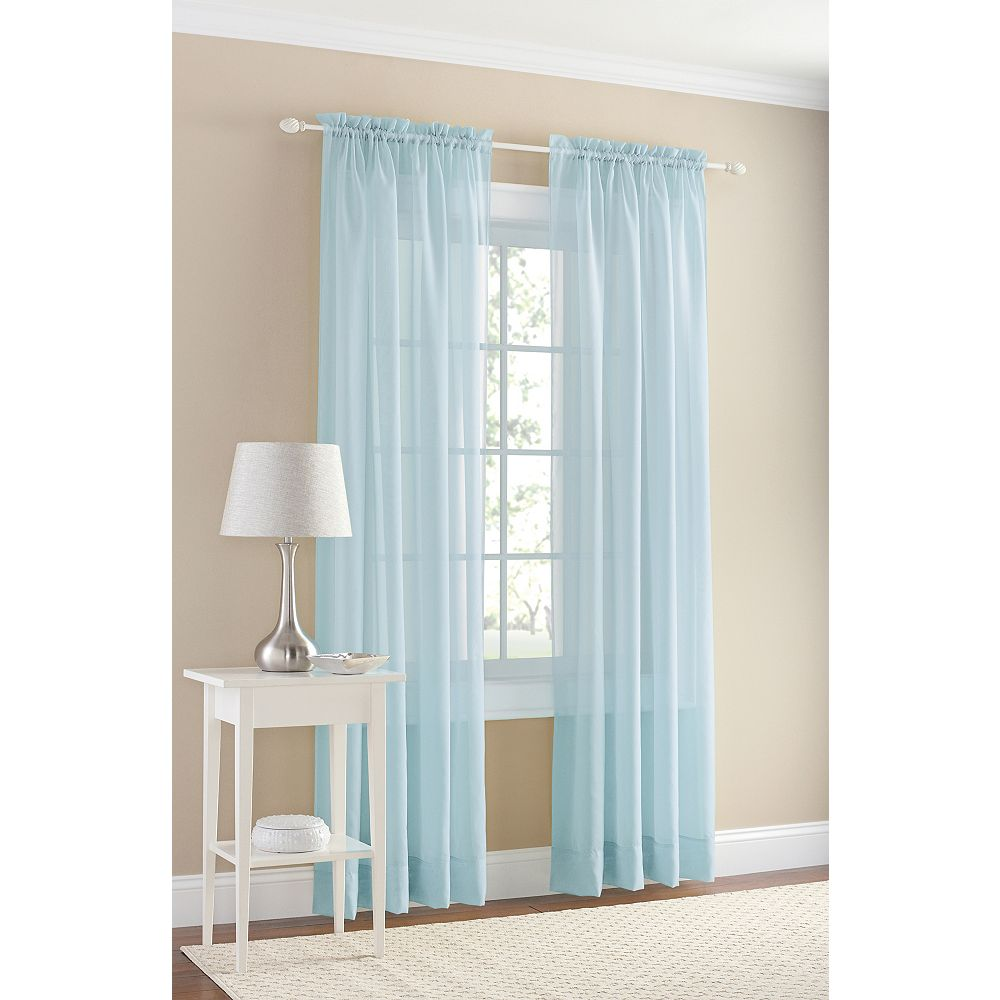 918 Voile Rod Pocket 59 X 108 Teal