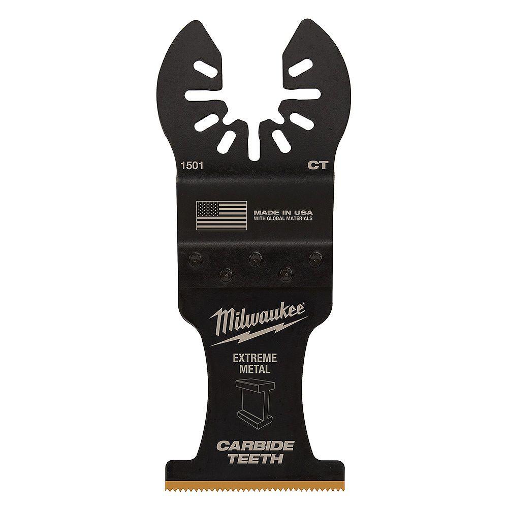 Milwaukee Tool 1-3/8-inch Carbide Teeth Metal Cutting Titanium Coated Oscillating Multi Tool Blade (1 Pack)