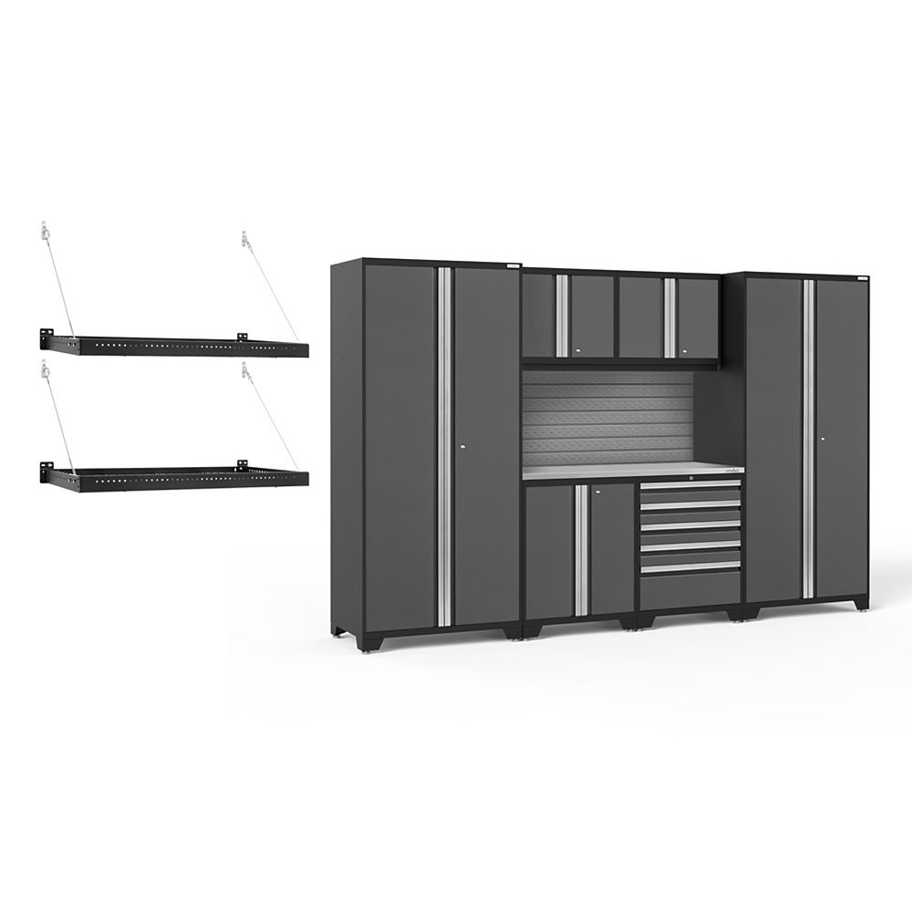 NewAge Products Inc. Pro Series Grey 7-Piece Cabinet Set