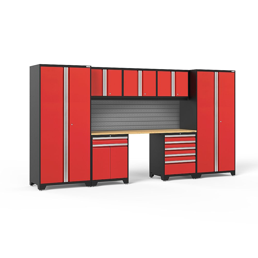 NewAge Products Inc. Pro Series Red 8-Piece Cabinet Set