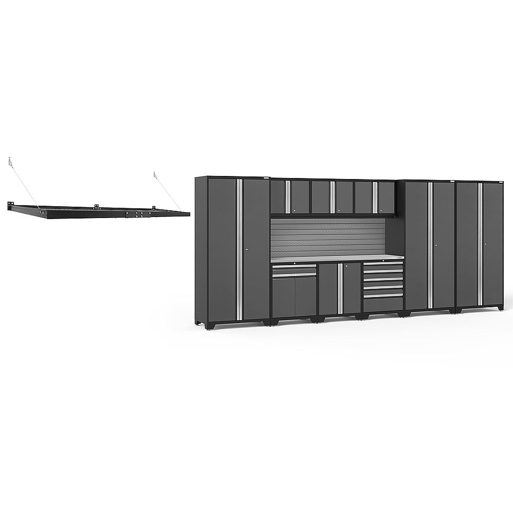 NewAge Products Inc. Pro Series Grey 10-Piece Cabinet Set