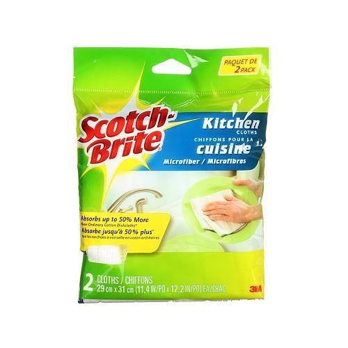 Scotch-Brite Kitchen Microfiber Cloths 2pack