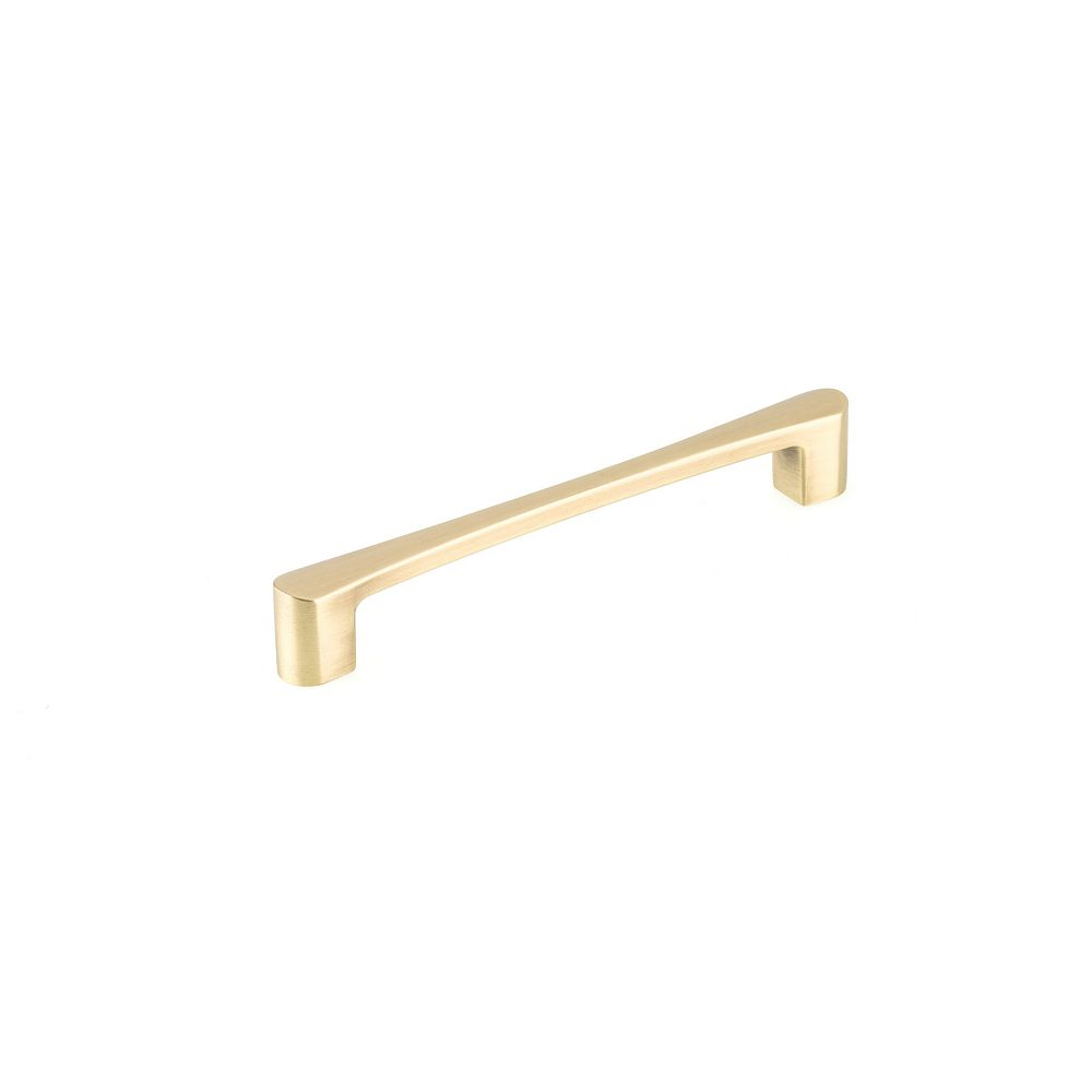Richelieu Kent Collection 6 5/16 in (160 mm) Center-to-Center Satin Brass Contemporary Cabinet Pull
