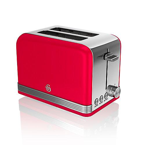Swan Retro 2 Slice Toaster, Red