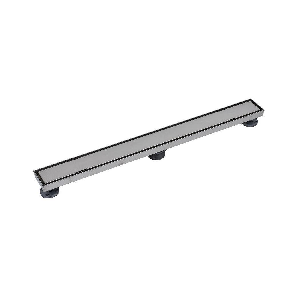 Oatey Designline 32 in. Stainless Steel Linear Shower Drain with Tile-In Pattern Drain Cover