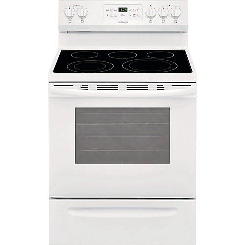 30-inch 5.4 cu. ft. Freestanding Electric Range with Quick Boil in White