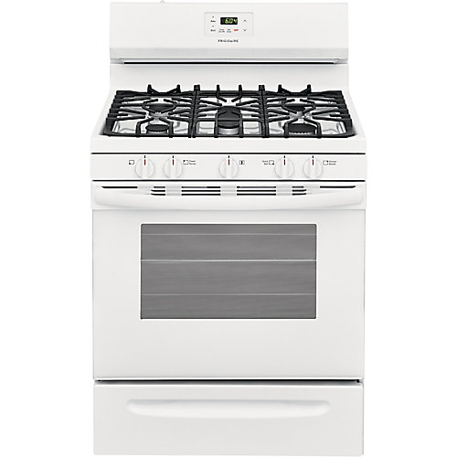 30-inch 5 cu. ft. Freestanding Gas Range with Quick Boil in White