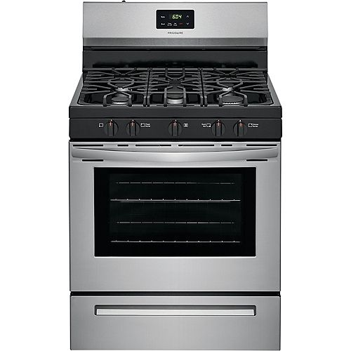 30-inch 5 cu. ft. Freestanding Gas Range with Quick Boil in Stainless Steel