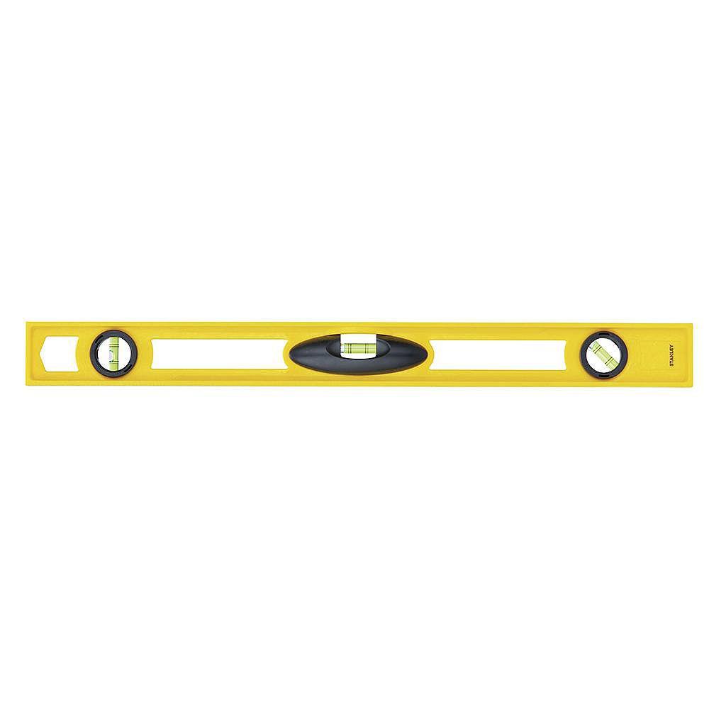STANLEY Niveau d'ABS non magnétique de 24 pouces à fort impact