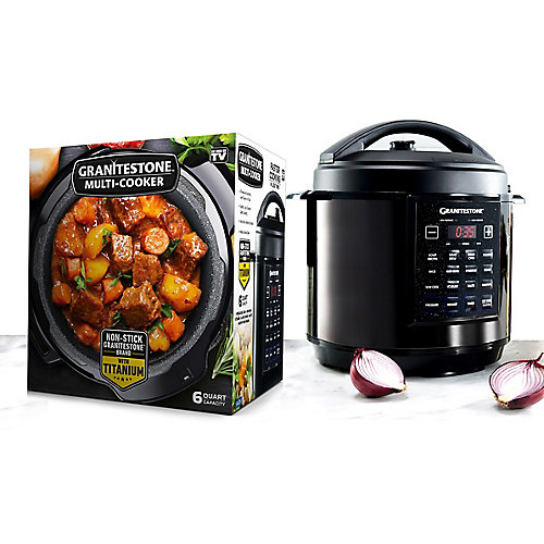 6 Qt. (5.68 L.) Triple Layer Titanium Coating Multi Cooker with Built-In Timer and Pre-Settings