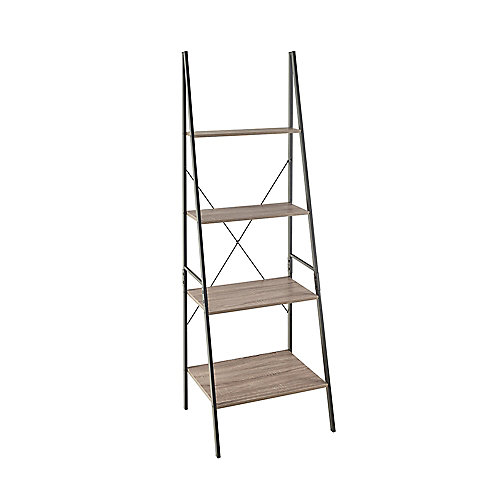 Closetmaid Mixed Material Ladder Bookshelf - Gray