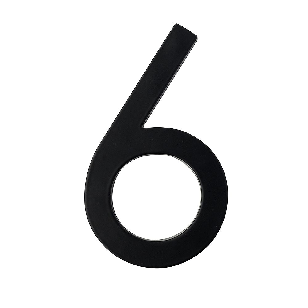 Taymor 5in Designer House Number 6 BLK