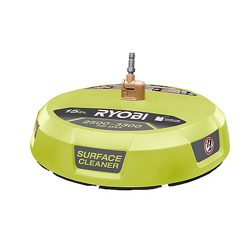 RYOBI 15 -inch 3300 PSI Surface Cleaner for Gas Pressure Washer