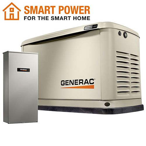 Guardian 13kW Home Backup Generator with 16-Circuit Transfer Switch Wi-Fi-Enabled