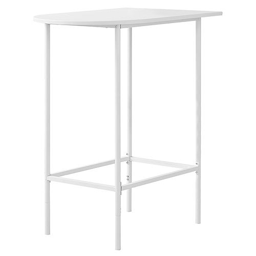 Home Bar - 24 Inch X 36 Inch  / White Top And Metal Spacesaver