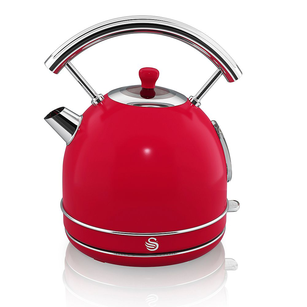 Swan Swan Retro Dome Kettle 1.7 L, Red