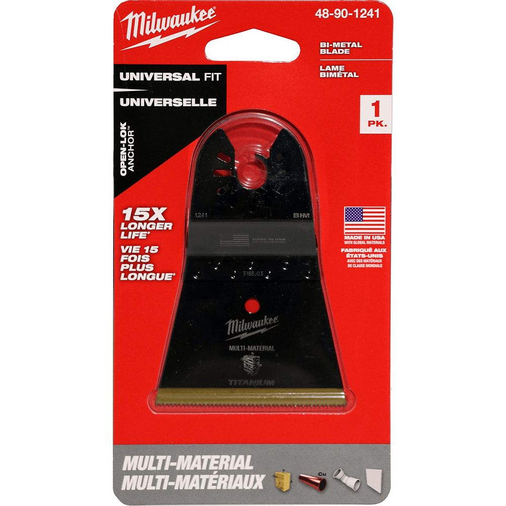 Milwaukee Tool 2-1/2-inch Wood Cutting High Carbon Steel Oscillating Multi Tool Blade (1 Pack)
