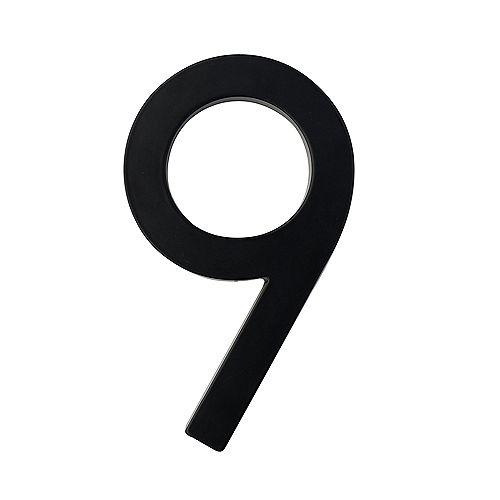 5in Designer House Number 9 BLK