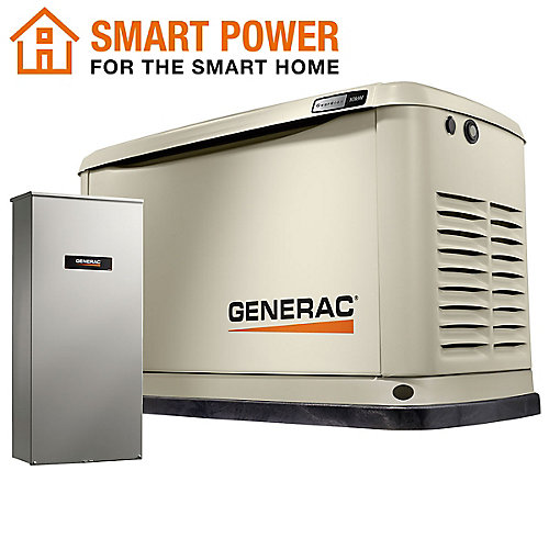 Guardian 10kW WiFi-Enabled Home Backup Generator with 16-Circuit Transfer Switch