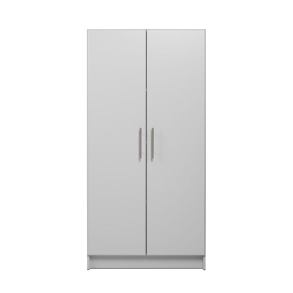 armoire de rangement elite 32 po gris clair