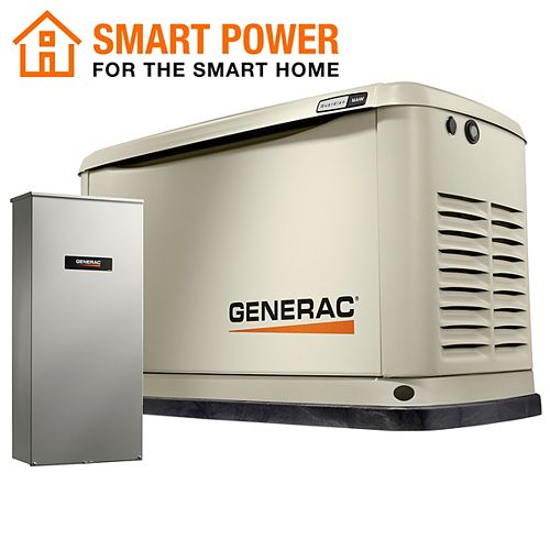 Guardian 16kW Home Backup Generator with 16-Circuit Transfer Switch Wi-Fi-Enable