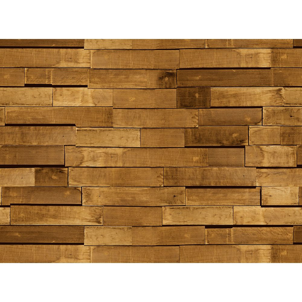 Deco Products Zurich Chocolate Wood Peel and Stick 3D-Effect Self Adhesive DIY Wallpaper