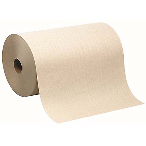 8 inch 1-Ply Brown Recycled Towel Roll (700 Ft./6-Rolls Per Case)