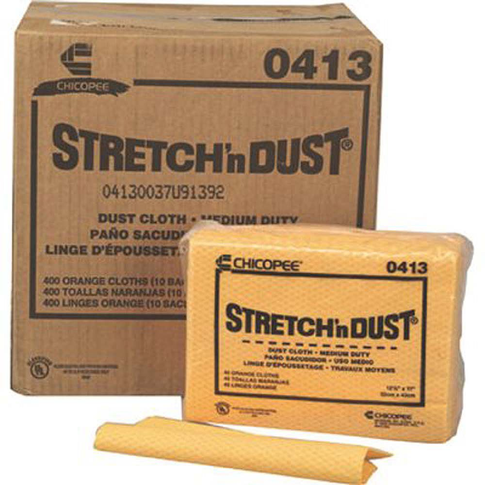 Chix Linges Stretch N Dust Chix 23 1/4 X 24 Po, Orange/Jaune (20/Sac)