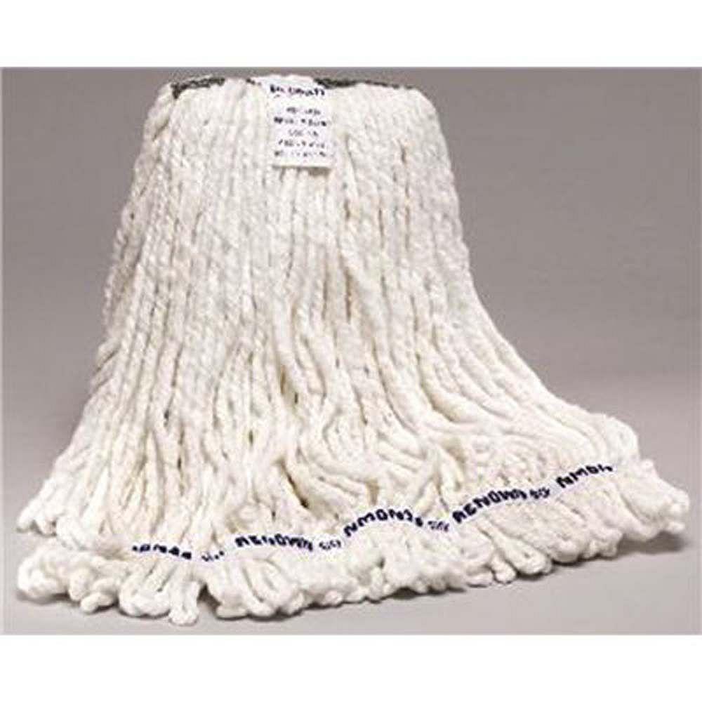 Renown Premium White Blend Loop-End Shrinkless Wet Mop Head