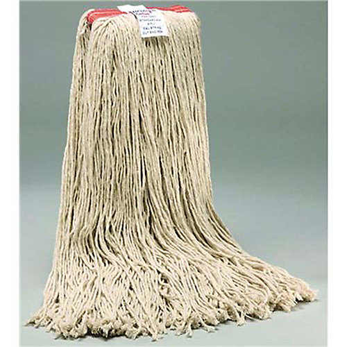Standard White Cotton Cut-End Wet Mop Head With 1 In. Head Band