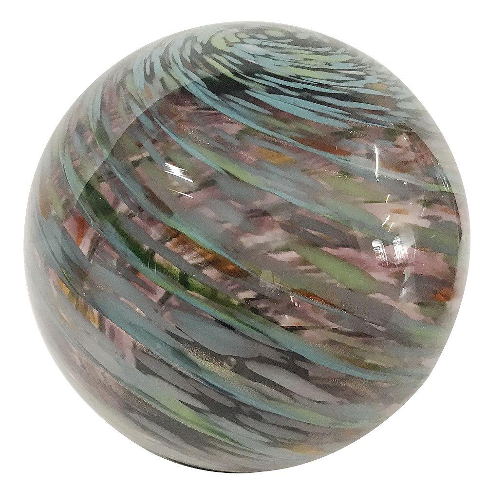 Trendspot Boule réfléchissante décorative de jardin, 5 po, verre, améthyste